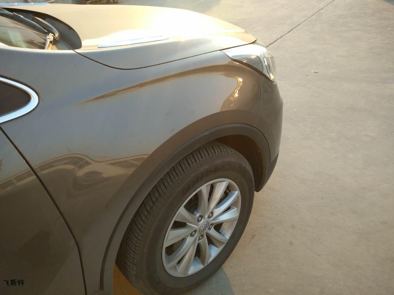 汽车无痕修复技术处理叶子板凹陷效果