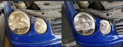纳米喷镀翻新汽车车灯